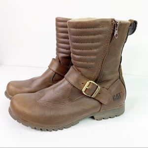 Catepillar Darcy Waterproof Leather Moto Boots